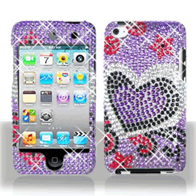 Purple Love iPod Touch 4 Protector Case