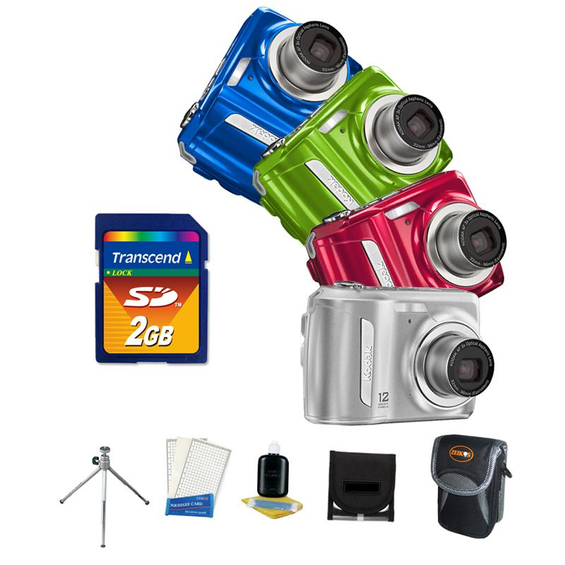 Kodak C143 12 MP Digital Camera with Bonus Kit (refurbished)