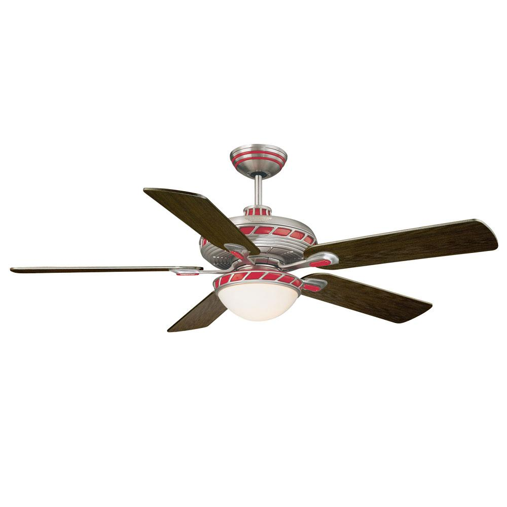 Savoy House Fleetwood Red Zinger 3-light Ceiling Fan