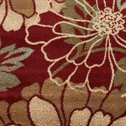 Great Red Flower Rug Photo Gallery