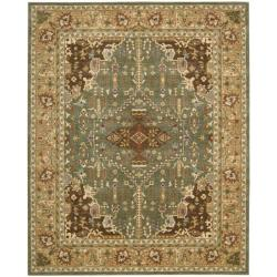 Nourison Antiquities Green Southwestern Rug (5'3 x 7'5)