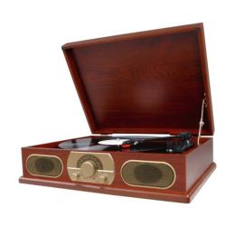 Studebaker SB6052 Wooden Turntable/ AM/FM Radio/ Cassette Player