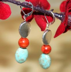 Susen Foster Silverplated Turquoise 'Casa Del Amor' Earrings