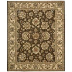 Nourison Antiquities Brown Floral Rug (3'6 x 5'6)