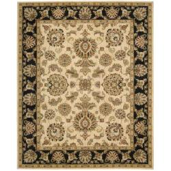 Nourison Antiquities Ivory Black Floral Rug (3'6 x 5'6)