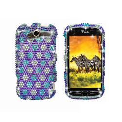 Premium HTC myTouch 4G Sparkling Quilted Flowers Protector Case