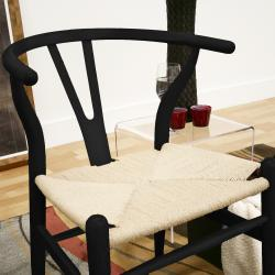 Wishbone Black Wood Y Chair