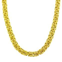 Goldkist 18k Gold over Silver 18-inch Byzantine Necklace