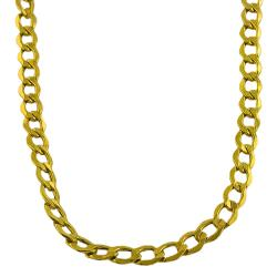 Fremada 10k Yellow Gold 24-inch Curb Chain Necklace (7 mm)