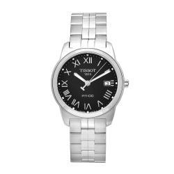 Tissot Men's PR 100 Stainless Steel Black Dial Watch