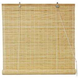Bamboo Natural Roll-up Window Blinds (60 in. x 72 in.) (China)