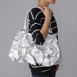 Journee Collection Ruffled Accent Tote Bag