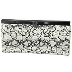 Journee Collection Women's Snake Print Clutch Wallet