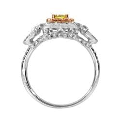 14k Two-tone Gold 3/4ct TDW Yellow and White Diamond Ring (G-H, SI1)