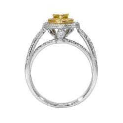 14k Two-tone Gold 7/10ct TDW Yellow/ White Diamond Ring (G-H, SI1)
