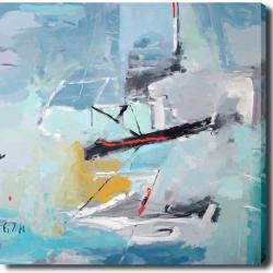 Abstract 'Boat' Giclee Canvas Art