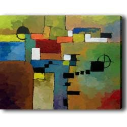 Abstract 'Color Blocks' Giclee Canvas Art