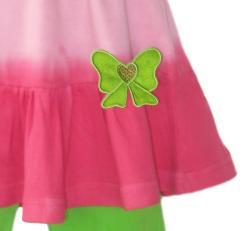 Ann Loren Girl's 2-piece Tie Dye Capri Set