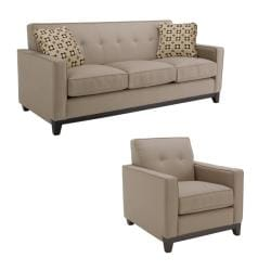 Jazz Pewter Fabric Sofa and Chair