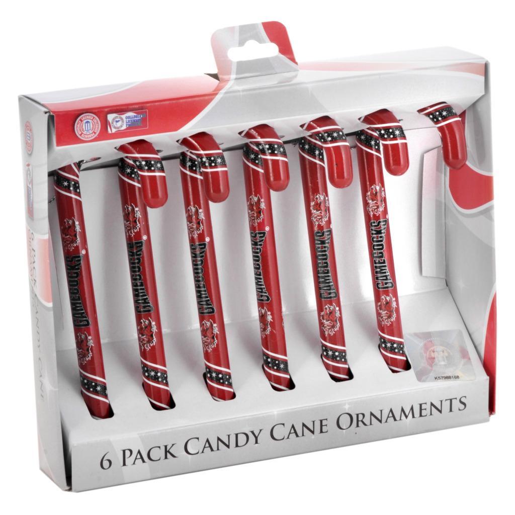 South Carolina Gamecocks Plastic Candy Cane Ornament Set