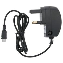 Black Micro USB UK Travel Charger for Samsung T959 Vibrant