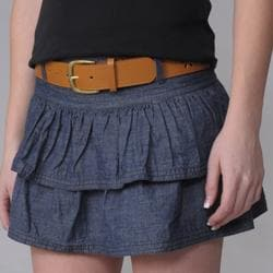 Ci Sono by Journee Junior's Denim Tier Skirt