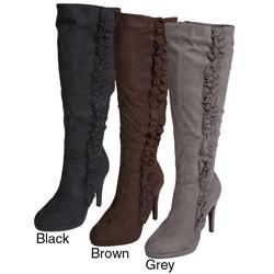 Anne Michelle by Journee Co Women&#39;s &#39;Strut-70&#39; Knee-high Boots