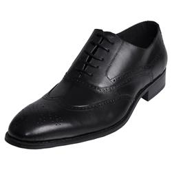 Boston Traveler Men's Wingtip Genuine Leather Oxfords