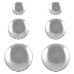 Tressa Sterling Silver Ball Stud Earrings (Set of 3)