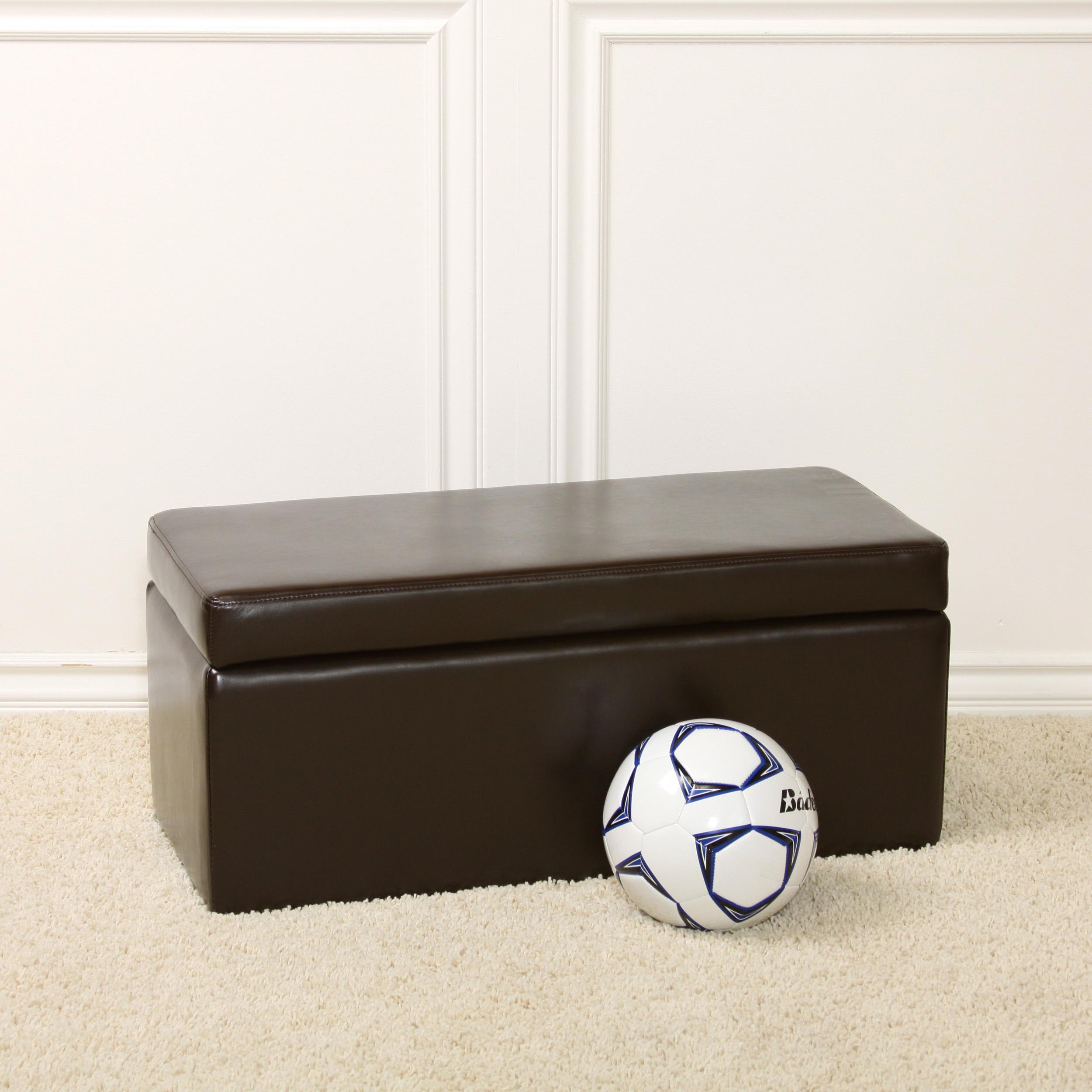 chocolate brown bench storage ottoman 13443860
