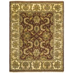 Indo Hand-knotted Jaipur Treasures Red/ Beige Wool Heirloom Rug (6' x 9')