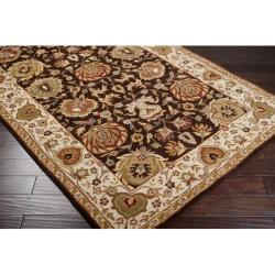 Hand-tufted Ariel Chocolate Wool Rug (5' x 8')