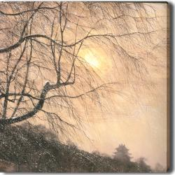 'Winter Sun' Giclee with Oil Brush Canvas Art