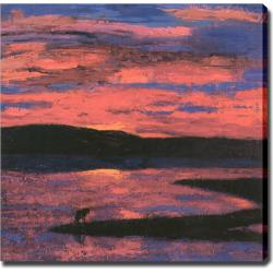 'Sunset' Giclee with Oil Brush Canvas Art