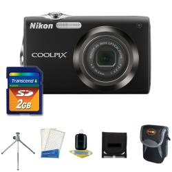 Nikon Coolpix S3000 12MP Digital Camera with 2GB Kit (Refurbished)