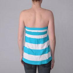 Ci Sono by Journee Juniors Striped Sleeveless Empire Waist Tunic Top
