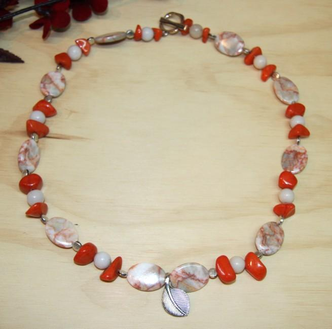 Susen Foster Silverplated Marble/ Quartz 'Mourning Dove' Necklace