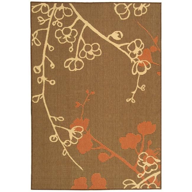 Safavieh Indoor/ Outdoor Brown/ Terracotta Rug (4' x 5'7)