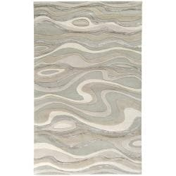 Candice Olson Hand-tufted Divine Ivory Abstract Waves Wool Rug (5' x 8')