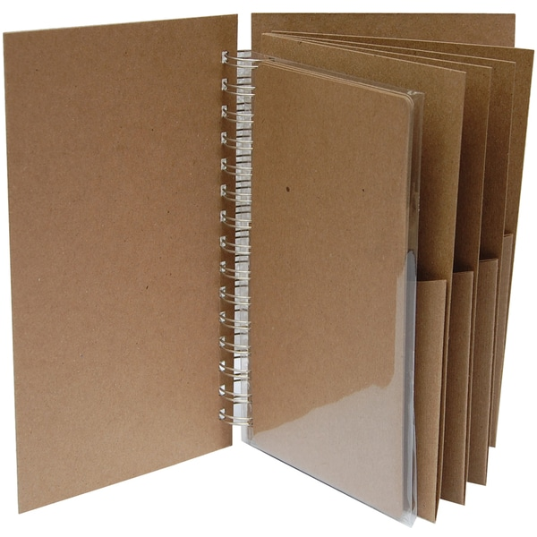 """Bare Booklets Spiral Bound Mixed Media Album 8.5""""X5""""-Polly's Pockets"""
