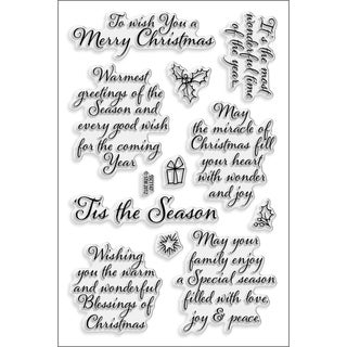 Stampendous 'Tis The Season' 4x6-inch Perfectly Clear Stamps