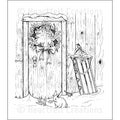 Heartfelt Creations &#39;Festive Yuletide Doorway&#39; 5x6.5-inch Cling Rubber Stamp Set