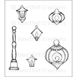 Heartfelt Creations 'Decorative Metal Fixtures' 5x6.5-inch Cling Rubber Stamp Set