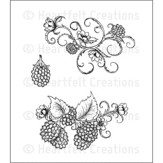 Heartfelt Creations 'Ornamental Raspberries' 5x6.5-inch Cling Rubber Stamp Set