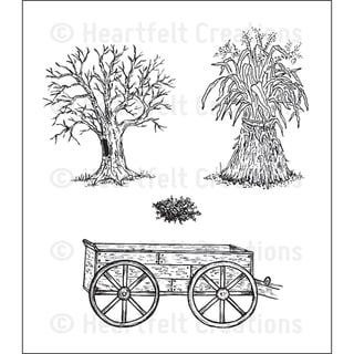 Heartfelt Creations 'Days Gone By' 5x6.5-inch Cling Rubber Stamp Set