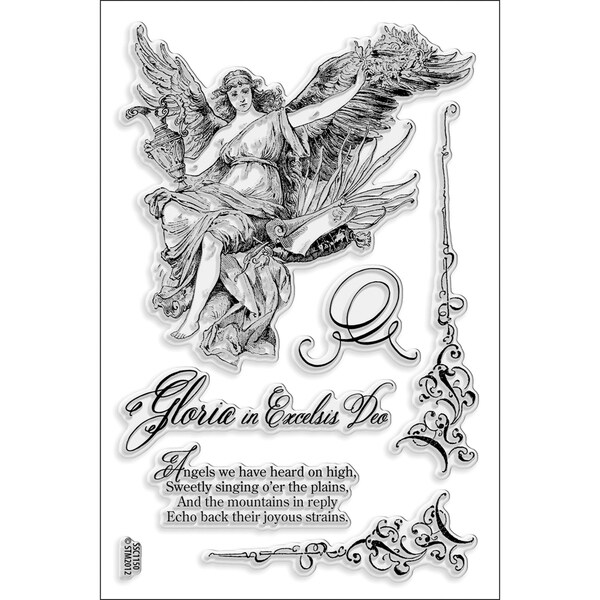 Stampendous 'Excelsis Deo' 4x6-inch Perfectly Clear Stamps