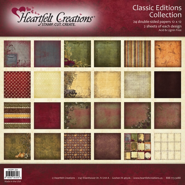 Heartfelt 12x12-inch Double-Sided 48-page 'Classic Editions' Paper Collection