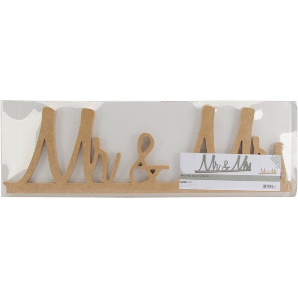 Beyond The Page 'Mr. & Mrs.' Standing Words MDF
