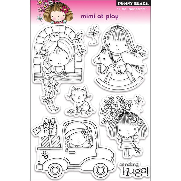 "Penny Black Clear Stamps 5""X7.5"" Sheet-Mimi At Play"