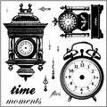 "Clear Photopolymer Stamps 4""X4""-Time After Time 12 Images"